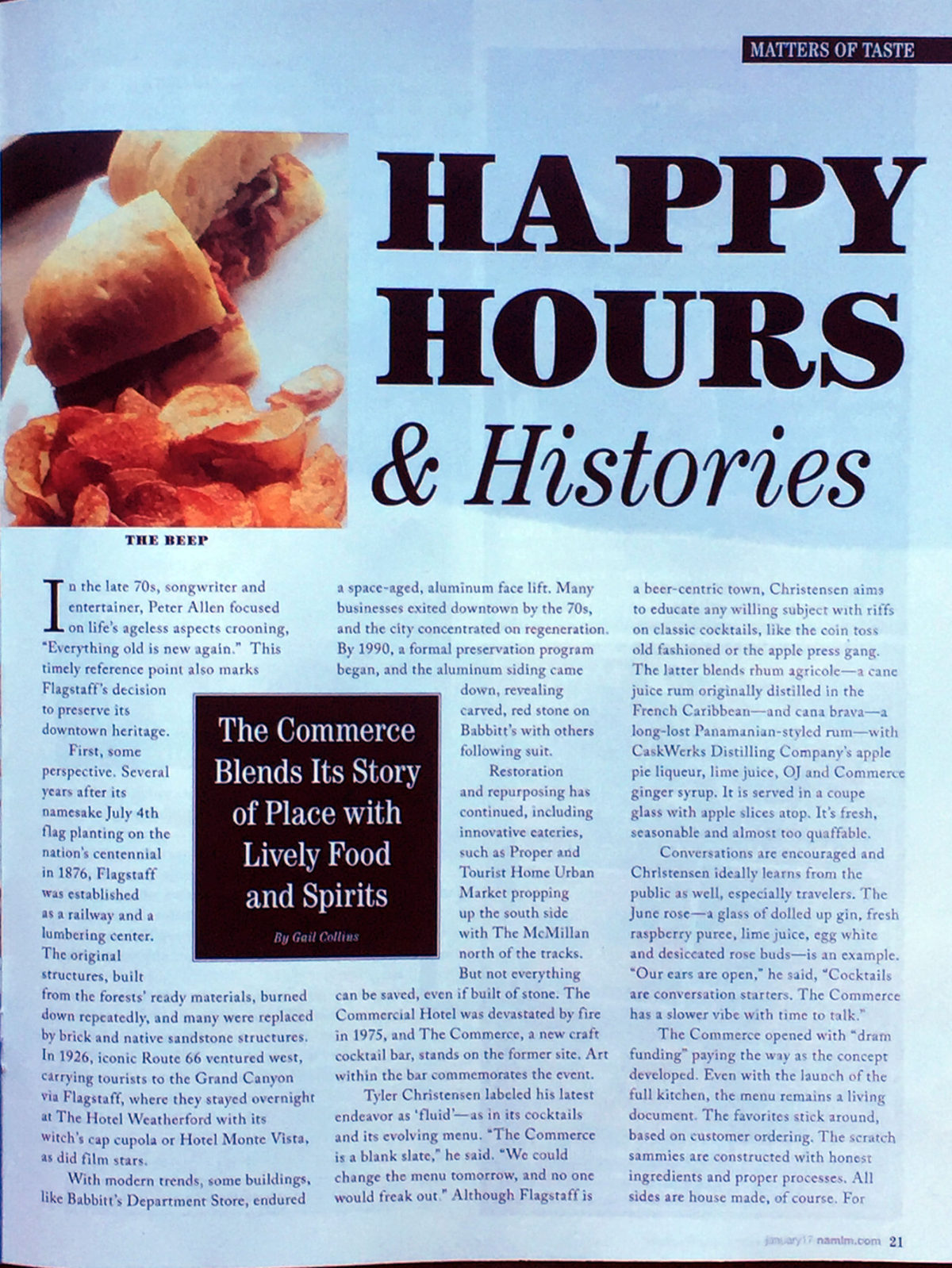 HAPPY HOURS & HISTORIES