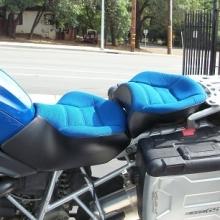 BMW R1200GS Dual Pacific Blue Sunbrella Inserts
