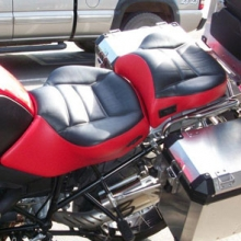 BMW R1200GS: Dual/ Black Inserts/ Red Sides/ Rectangles