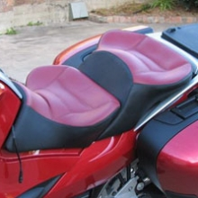 BMW R1200RT: Dual Red Leather Insert | Rectangles