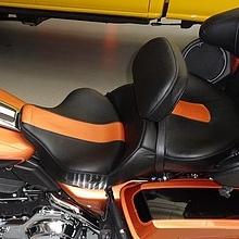 Dual Black Leather with custom anniversary stripe