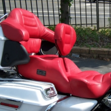 Harley-Davidson Ultra: Dual Red Leather with RCP Backrest & Heating System