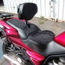 Honda DN-01: Day-Long Solo | Graphite Velour Insert | Vinyl Sides | Sm. Diamond Pattern with RCP Backrest & Pouch