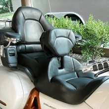 Dual all Black Leather seat with RCP built-in driver backrest