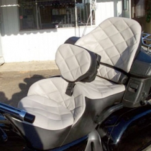Honda GL 1800: Dual Two-Tone with Large Diamonds and RCP Backrest