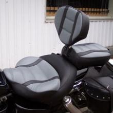 Honda Shadow: Backrest Black & Gray With Stripes