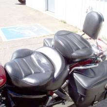 Honda Shadow: Dual Black Vinyl with Rectangles