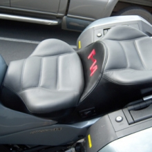 Kawasaki Concours 14: Day-Long Dual Leather Saddle with Embroidery & Heating System