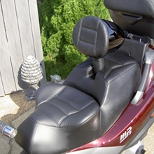 MP3 Piaggio: Day-Long Solo with Backrest All Leather