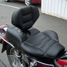 Ural: Solo RCP Backrest Rectangles Leather Insert Vinyl Sides