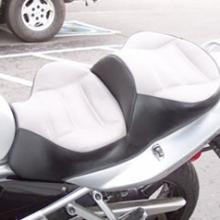 Suzuki Bandit: Dual Light Gray Leather Insert With Vinyl Side