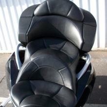 Victory Vision: Day-Long All Leather Black Half-Moon Pattern.