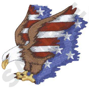 Red, White & Blue Eagle