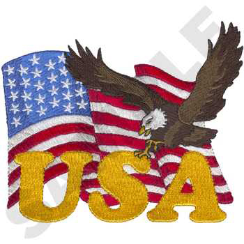 Flag w/Eagle & USA