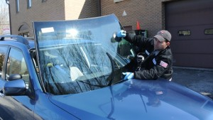 Auto Glass Fitters in Action