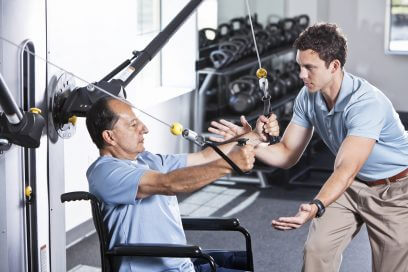 Physiotherapist Working with a Patient