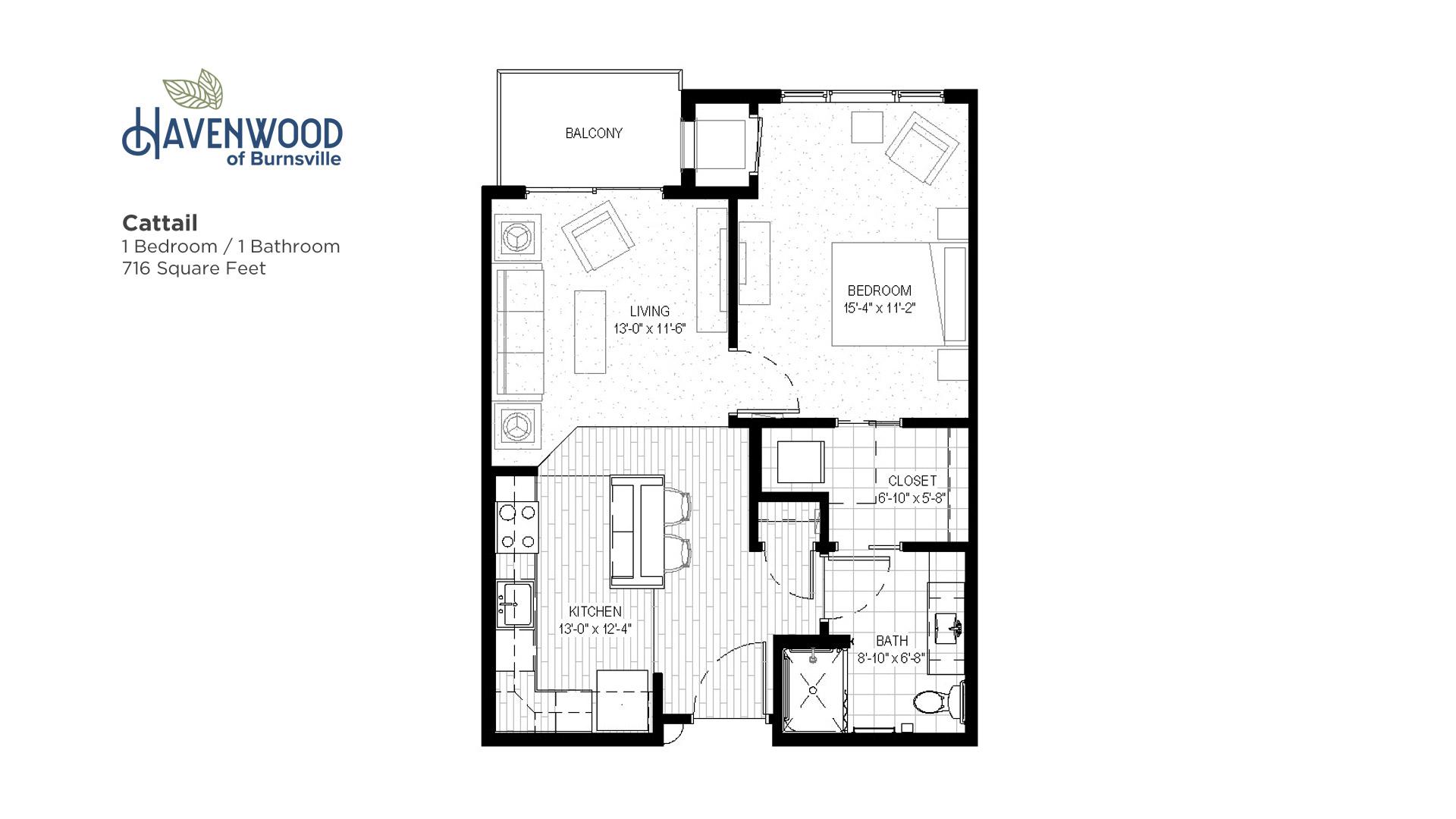 Havenwood of Burnsville Cattail Floor Plan