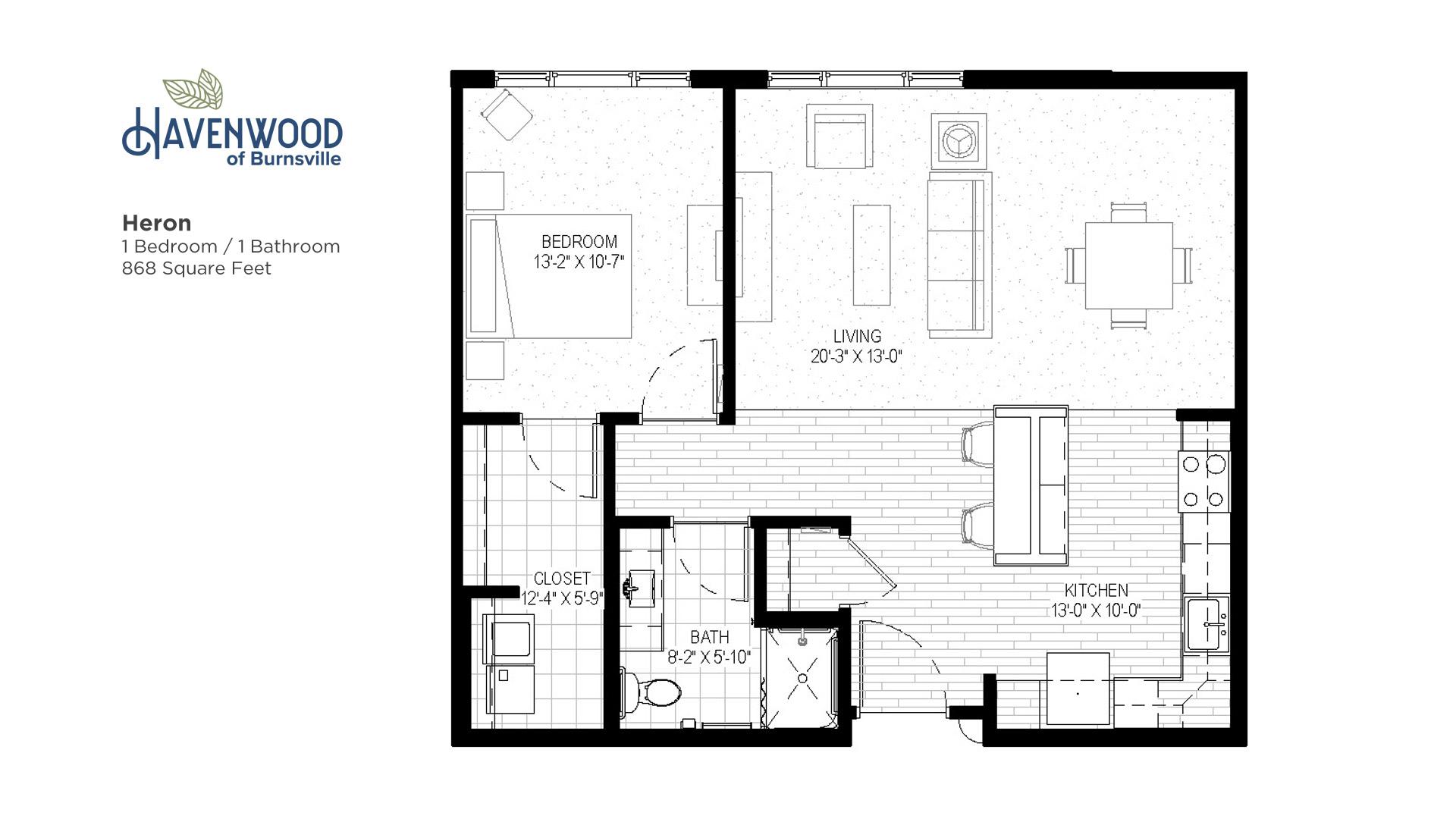 Havenwood of Burnsville Heron Floor Plan