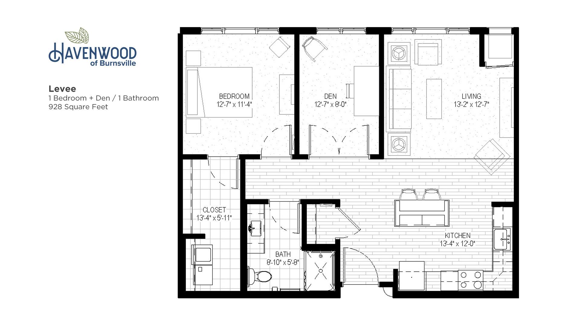 Havenwood of Burnsville Levee Floor Plan