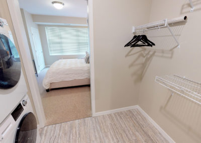 Havenwood of Burnsville Bedroom Closet with In-Unit Laundry
