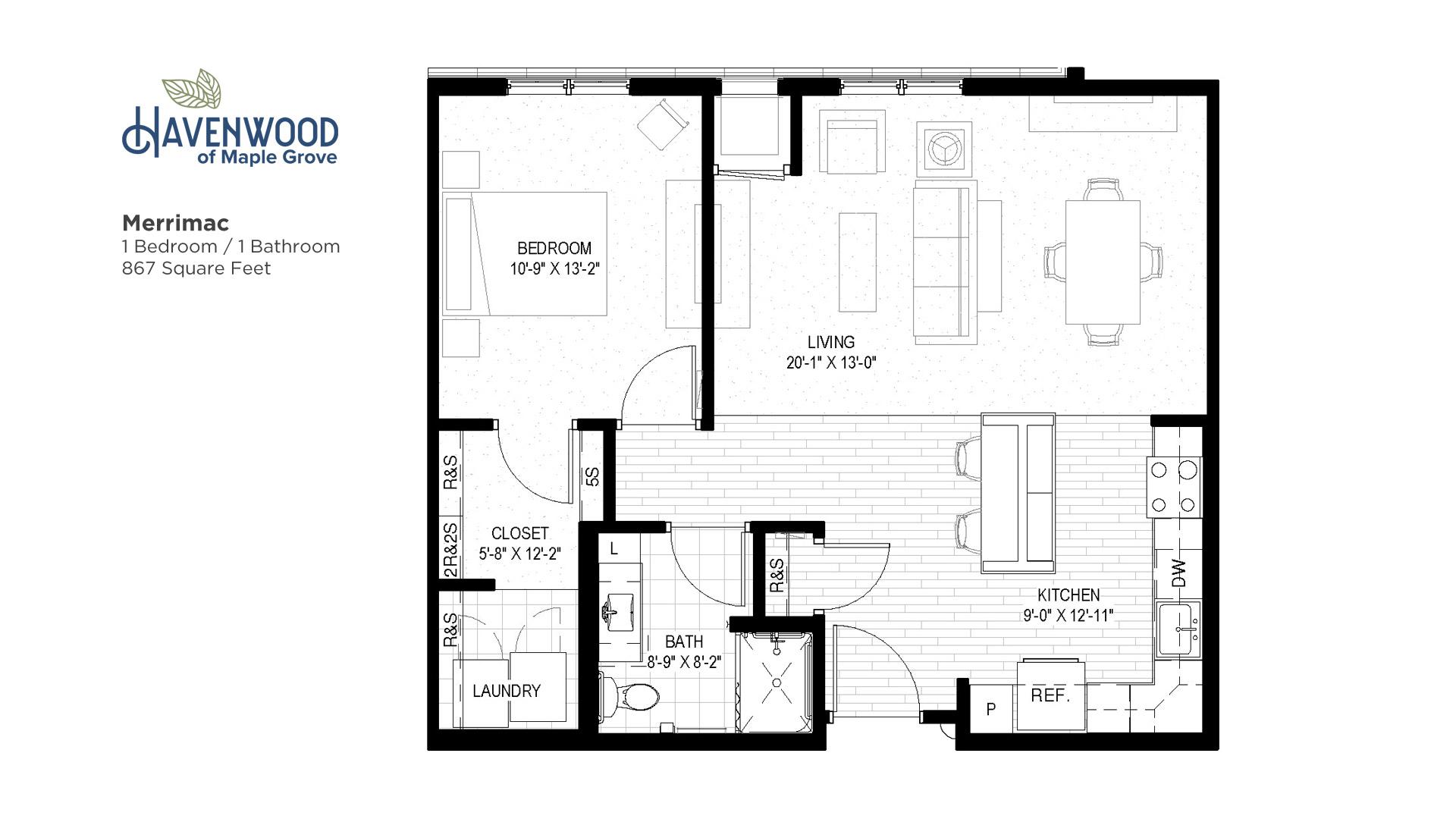 Havenwood of Maple Grove Merrimac Floor Plan