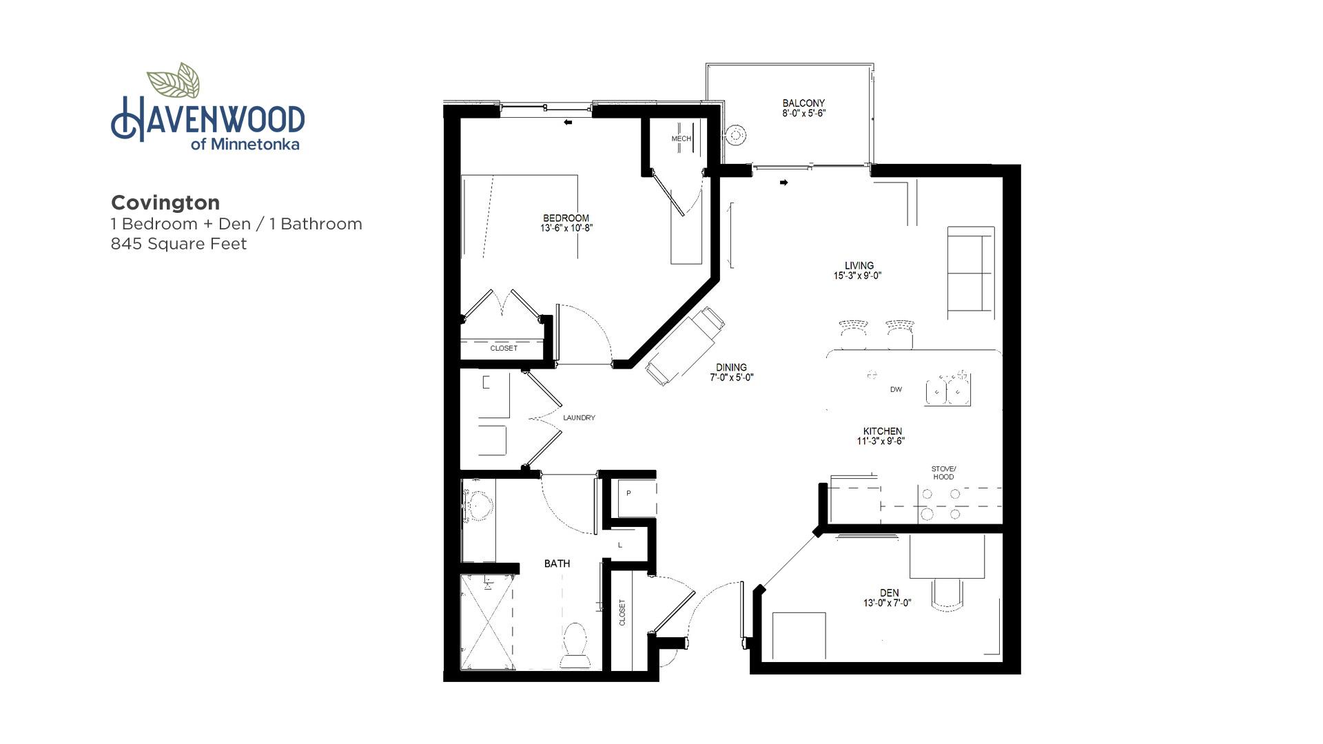 Havenwood of Minnetonka Covington Floor Plan