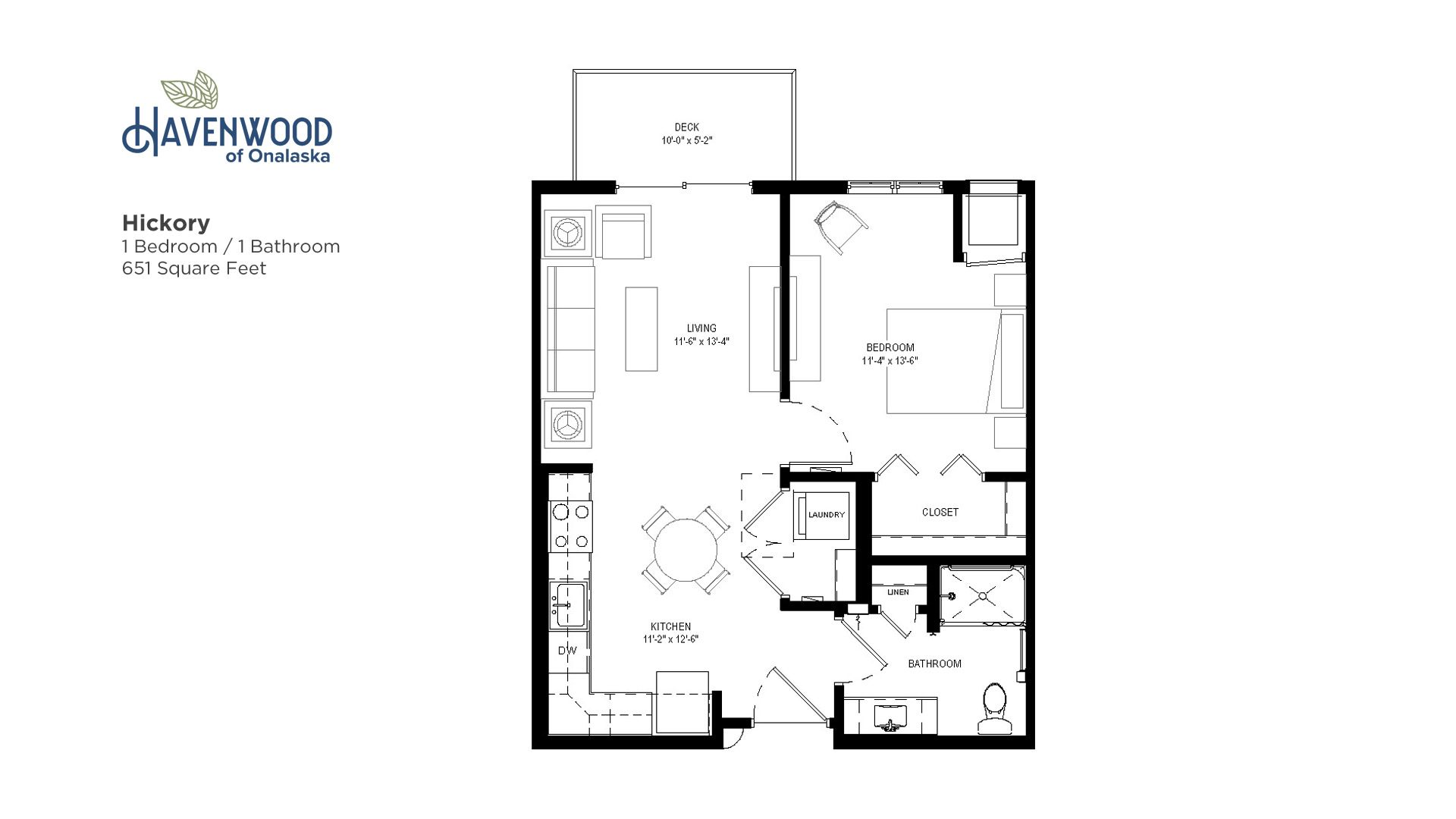 Havenwood of Onalaska Hickory Floor Plan