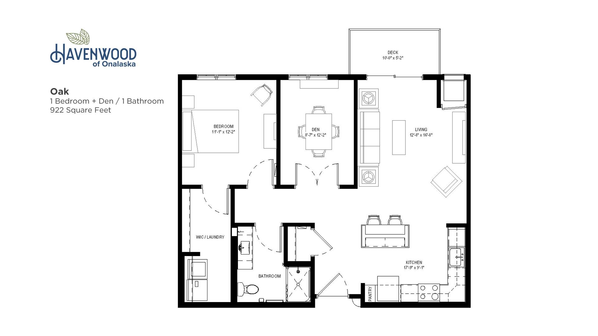 Havenwood of Onalaska Oak Floor Plan