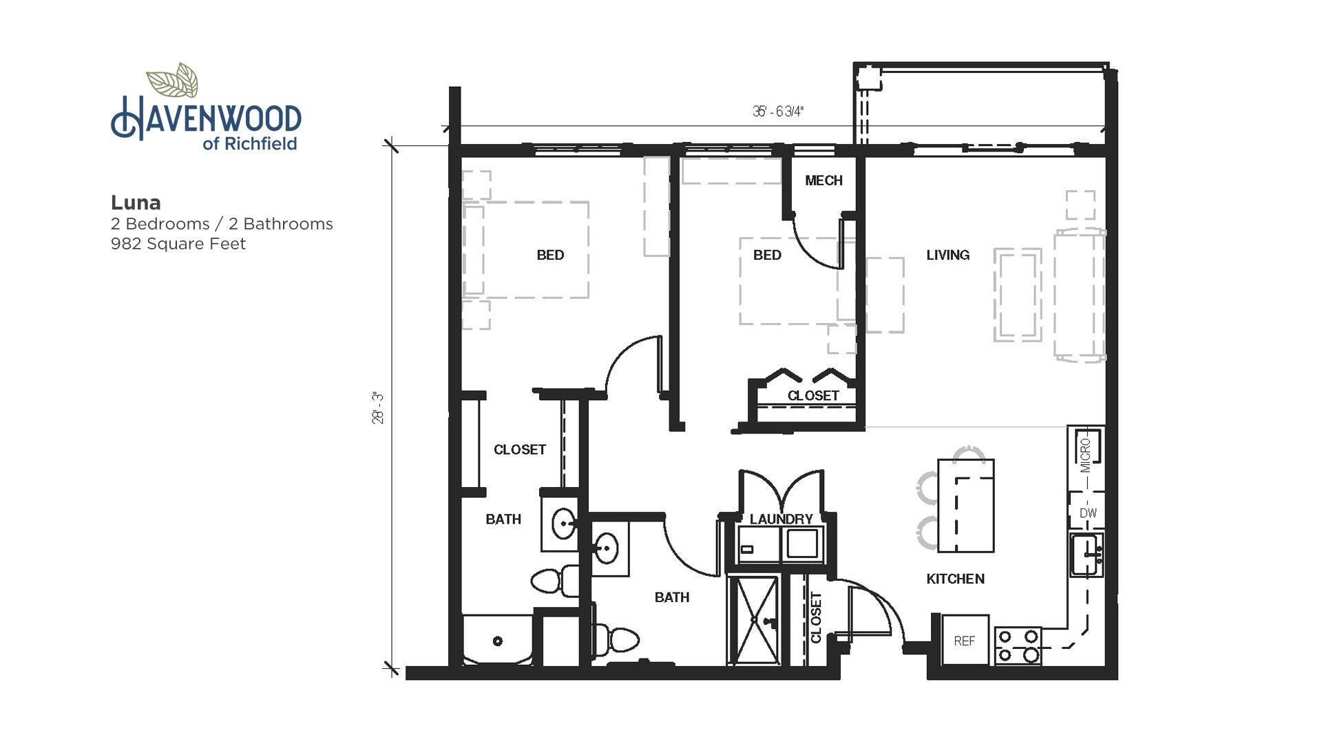 Havenwood of Richfield Luna Floor Plan