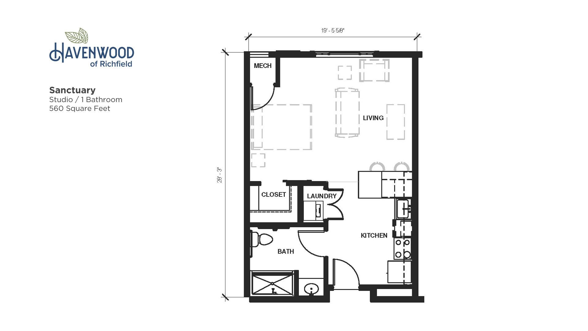 Havenwood of Richfield Sanctuary Floor Plan