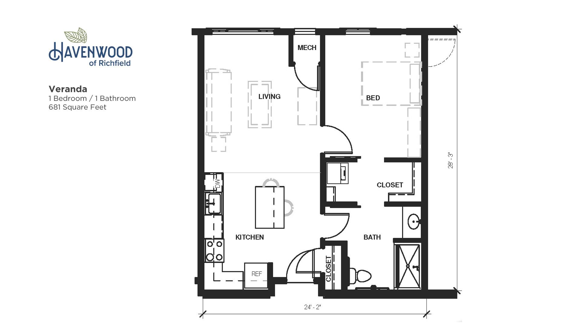 Havenwood of Richfield Veranda Floor Plan