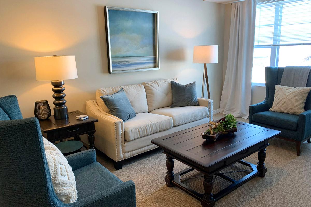 Havenwood of Burnsville Senior Assisted Living Apartment Living Room