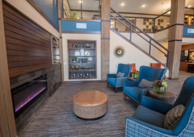 Havenwood of Minnetonka Lobby Fireplace and Sitting Area