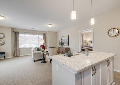 Havenwood of Onalaska Apartment Kitchen and Living Room