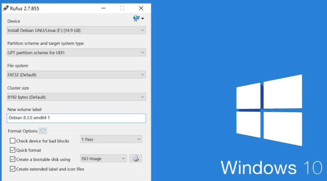 Windows 10 fall Creators update with Rufus