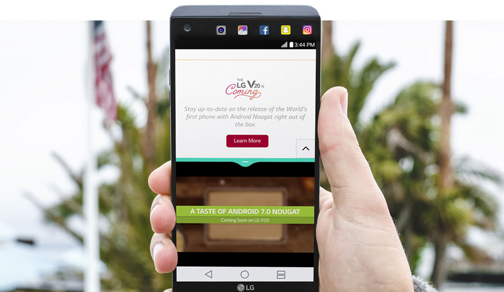 LG V20 with Android 7.0