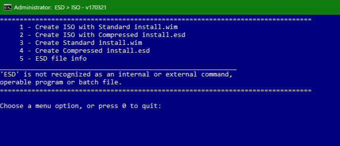 Windows 10 ESD to ISO