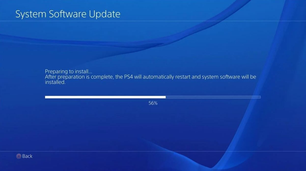 PlayStation 4 update 5.03