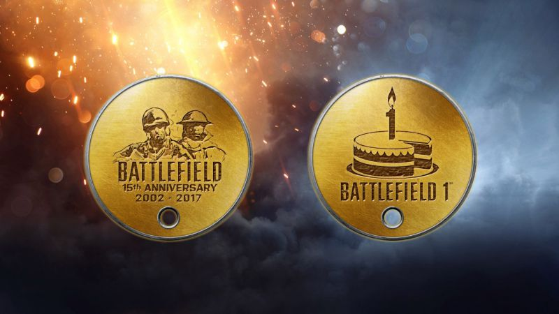 Battlefield 1 Year Anniversary Dog Tags
