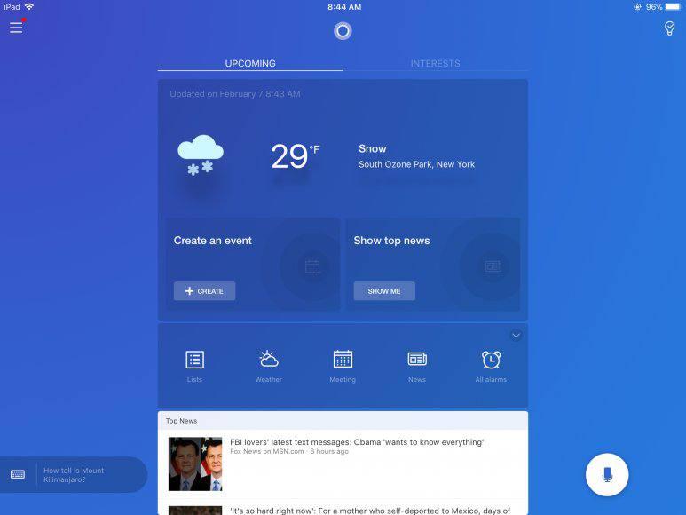 Cortana for iPad