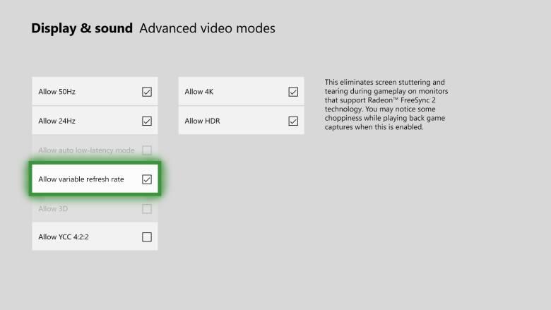 Xbox One freesync by Sihmar