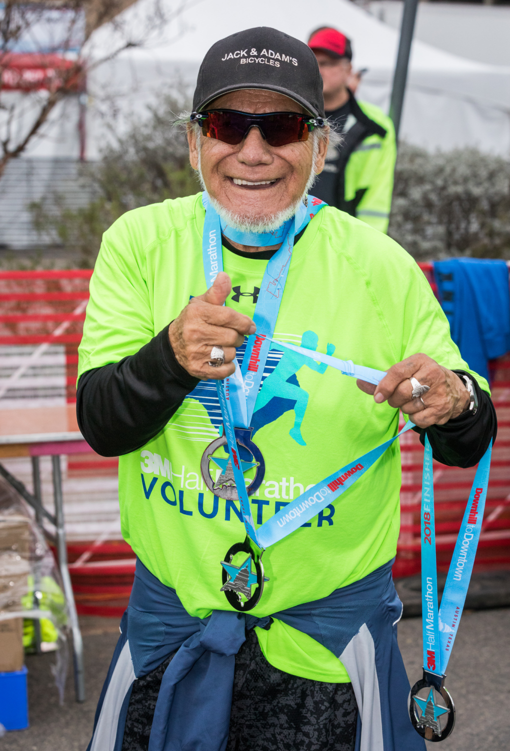 Eloy Ojeda at the 2018 3M Half Marathon.