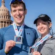 3M Half Marathon finishers and 2020 spinning finisher medals