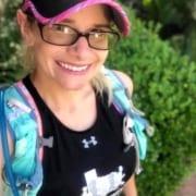 Agatha Kerr, 2020 3M Half Ambassador, takes a selfie during a trail run.