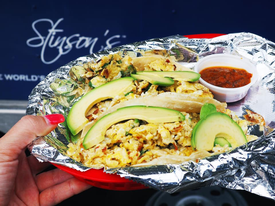 Hearty breakfast tacos from Stinson's Bistro. Get to know Austin when you visit places, like Stinson's Bistro, along the 3M Half Marathon course.