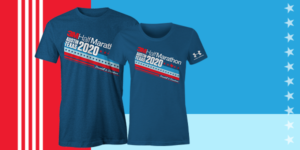 Image of the men's and women's Under Armour 2020 3M Half Marathon participant shirts. This blog has everything you need to get ready for the 2020 3M Half Marathon!