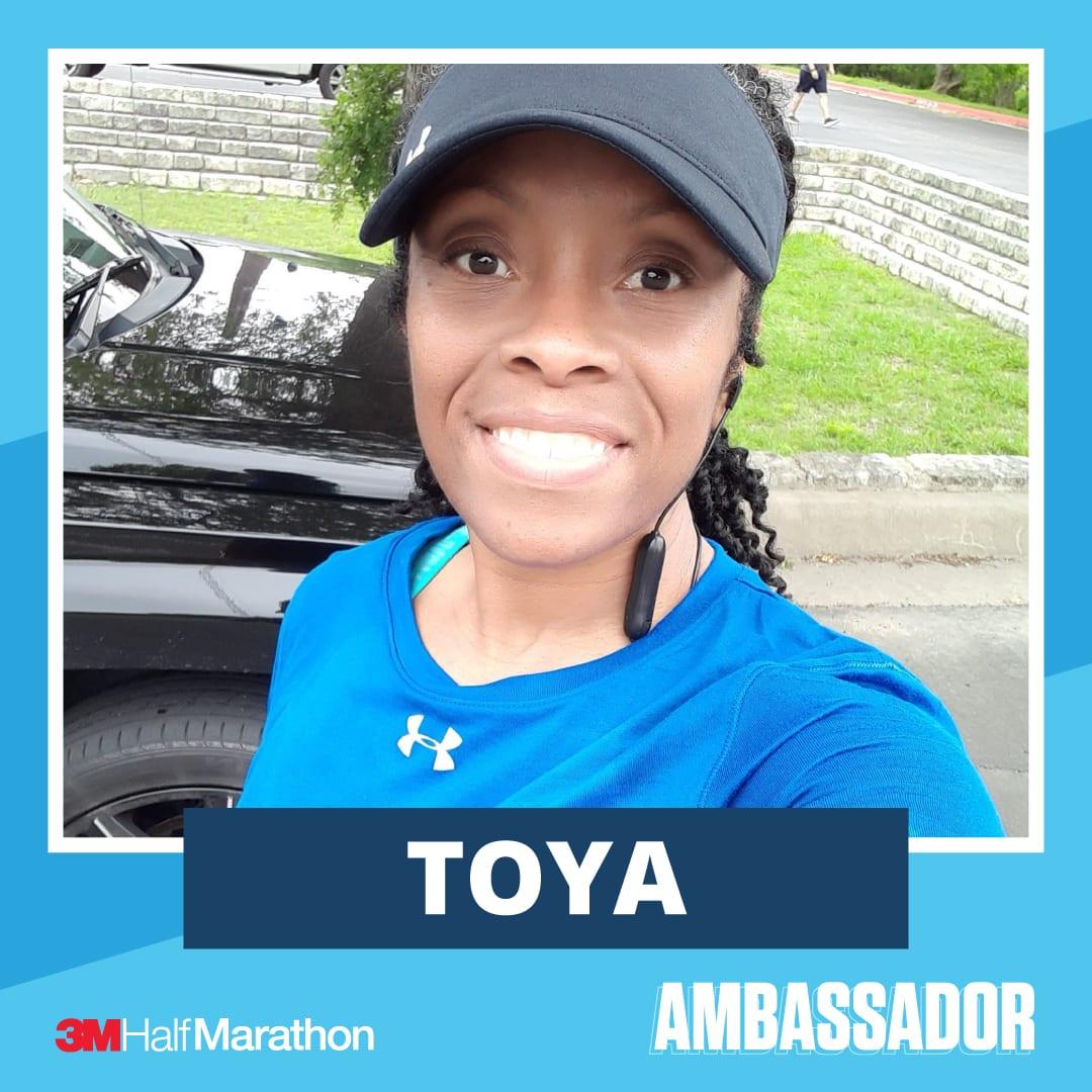 Toya - 2021 3M Half Marathon Running Ambassador