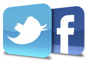 We're on Facebook and Twitter