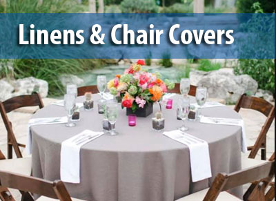 Linens & Chair Cover Rentals