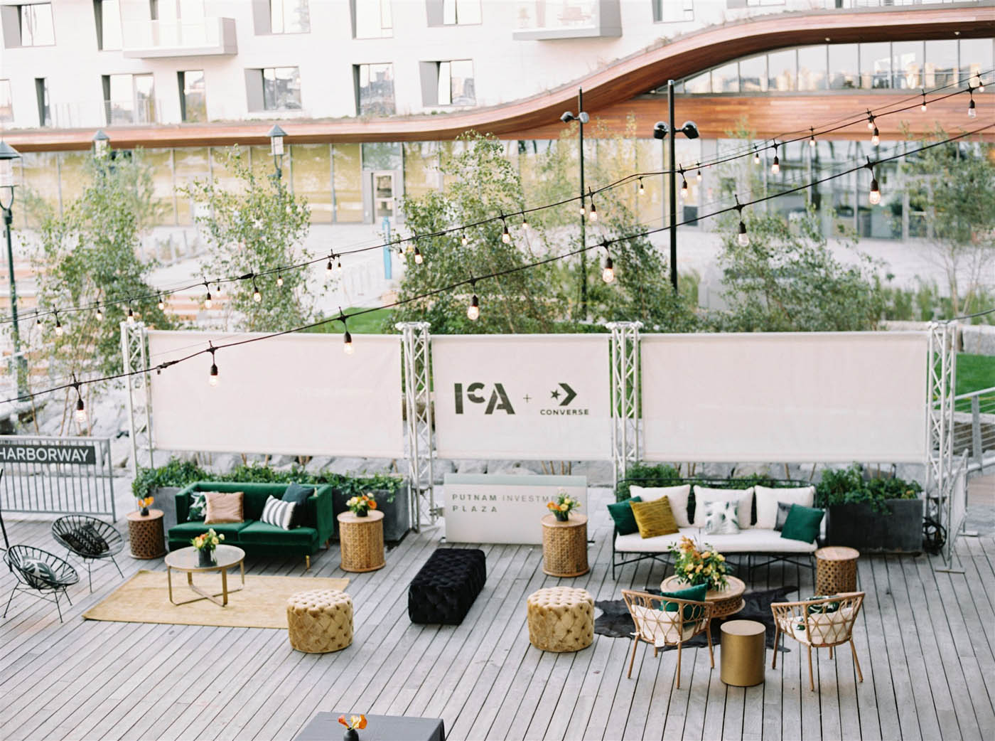 outdoor plaza at ICA Boston